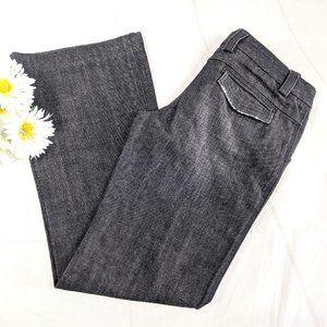 Express Design Studio Black Editor Flare Jeans